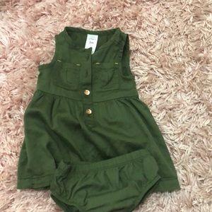 Green 3month Carter's Dress